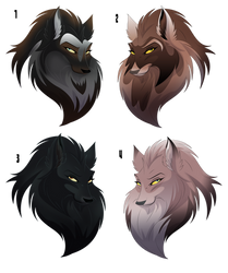 Free to RP Wolf Adopts - Amber Ridge by albinoraven666fanart