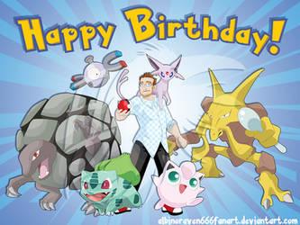 Boyfriend Birthday Gift- Pokemon Trainer by albinoraven666fanart