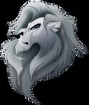 Random Grey Lion Head