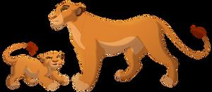 Cracked Adopt Commission: Naanda/Mufasa