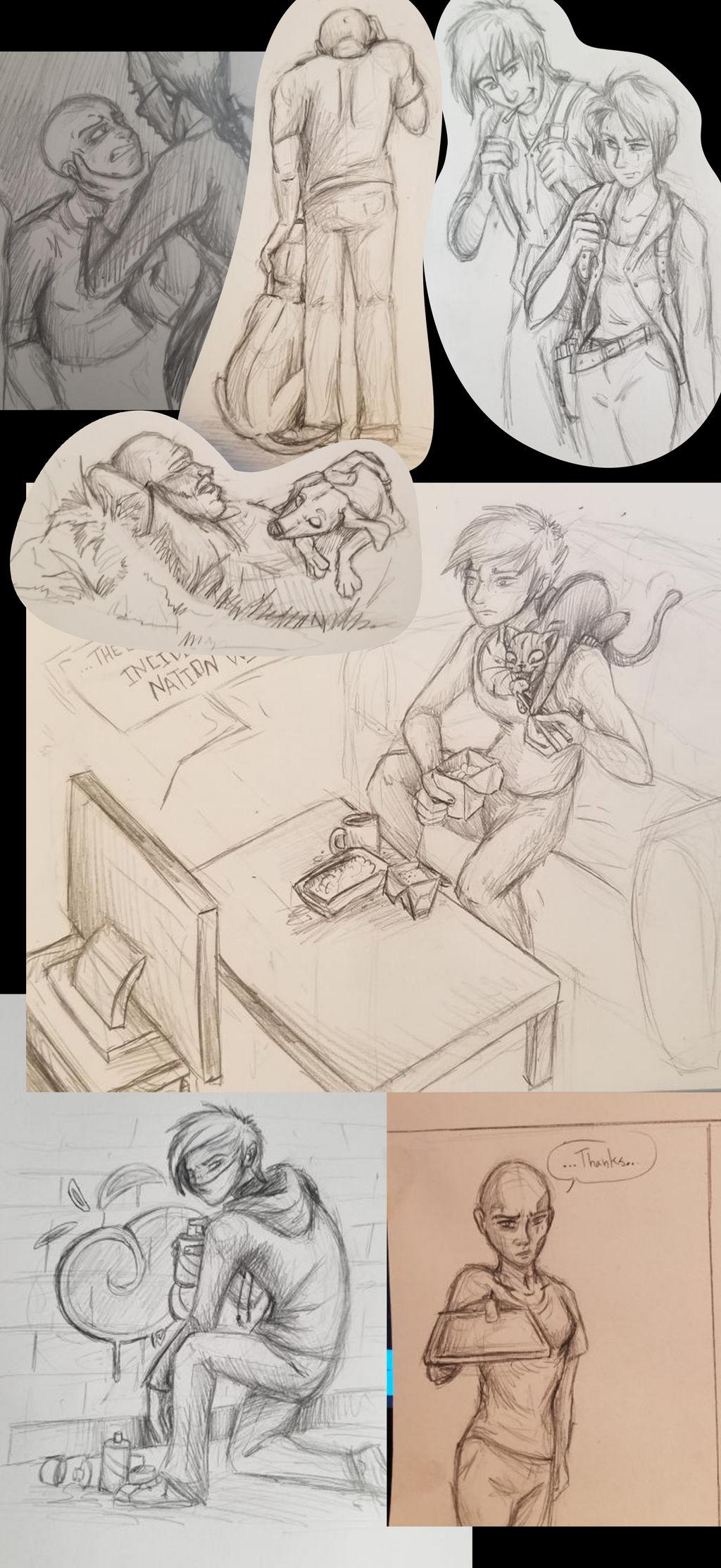 Sketch Dump from Zombie Apoc RP UZA