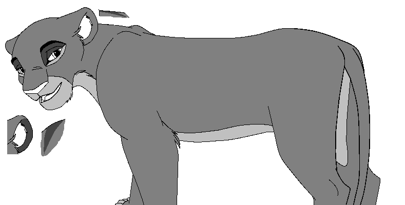 Lioness base by kisini