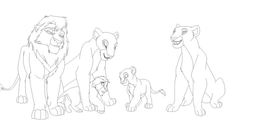 Base of an art trade- Lion Family by kisini
