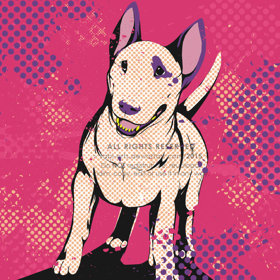 Bull Terrier Pop By SabiArts On DeviantArt - Bull terrier art