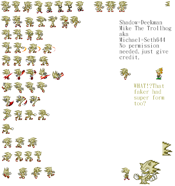 Super Mike sprites sheet by Phantom644