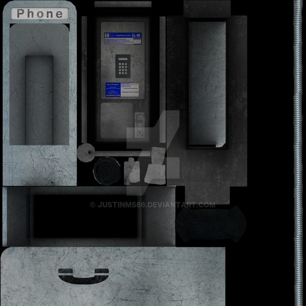 Pay Phone Map Payphone  Texture Maps  by JustinMs66 on DeviantArt