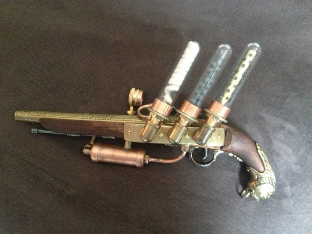 Steampunk Pirate Flintlock Pistol Left by czarofhappiness ...