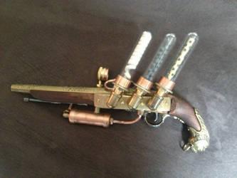 Steampunk Pirate Flintlock Pistol Left by czarofhappiness
