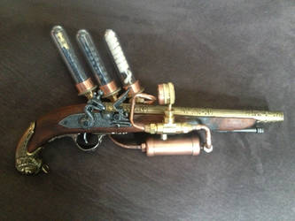 Steampunk Pirate Flintlock Pistol Right by czarofhappiness