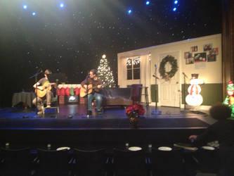 Home Interior Stage Set: Dammit Liz Xmas Show by czarofhappiness