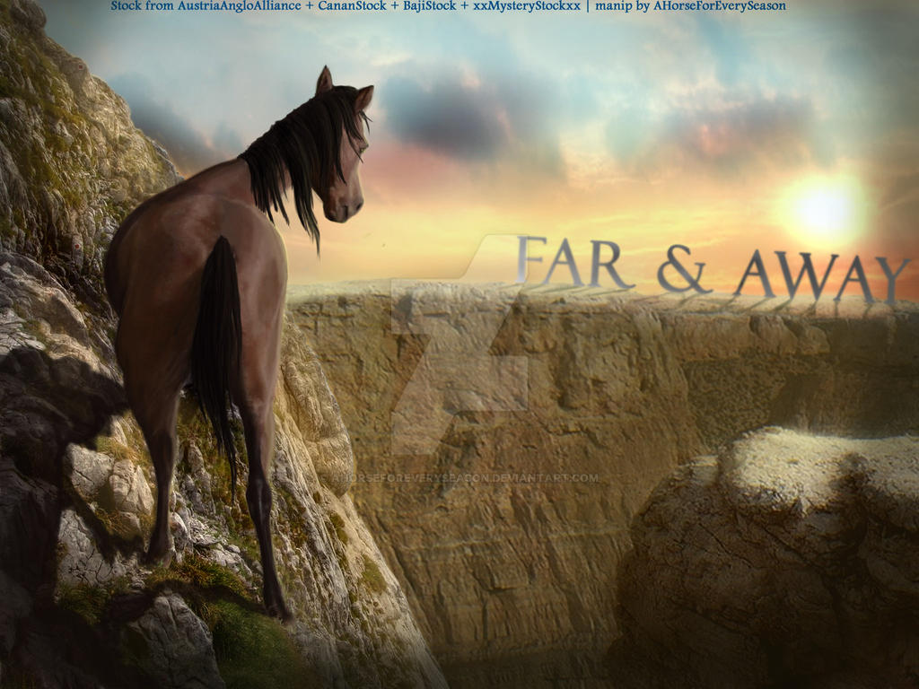 Far and Away | Escape the Cliff Horse by aHorseForEverySeason