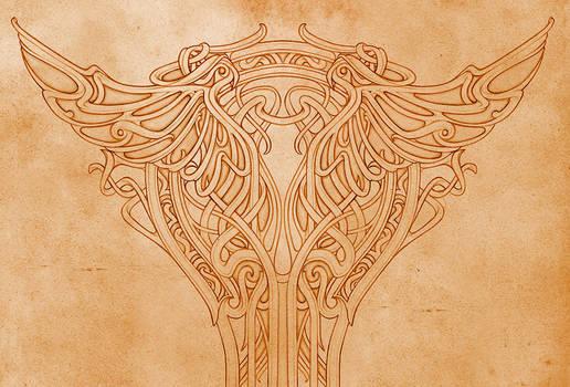 Art nouveau - pillar ornament