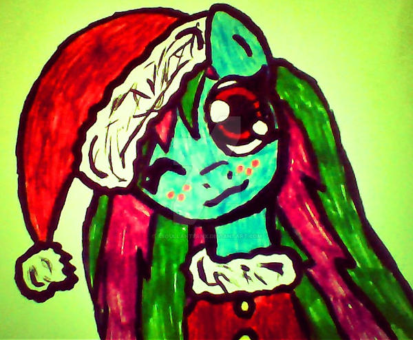 Soul Lantern Christmas Pony OC Colored by XSoulLanternX