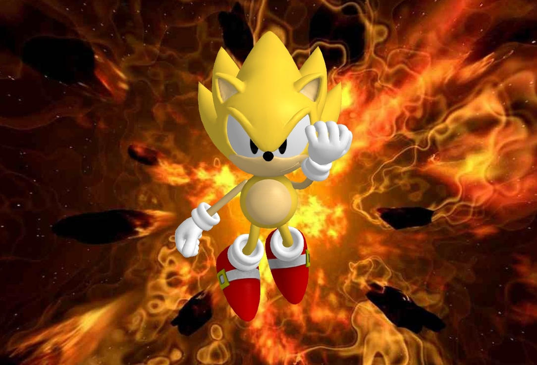Classic Super Sonic Wallpaper By SOLIDCAL