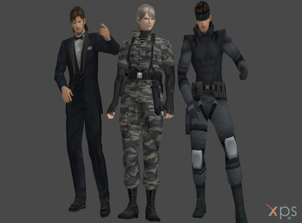 MGS2 static models Snake and Olga by SOLIDCAL
