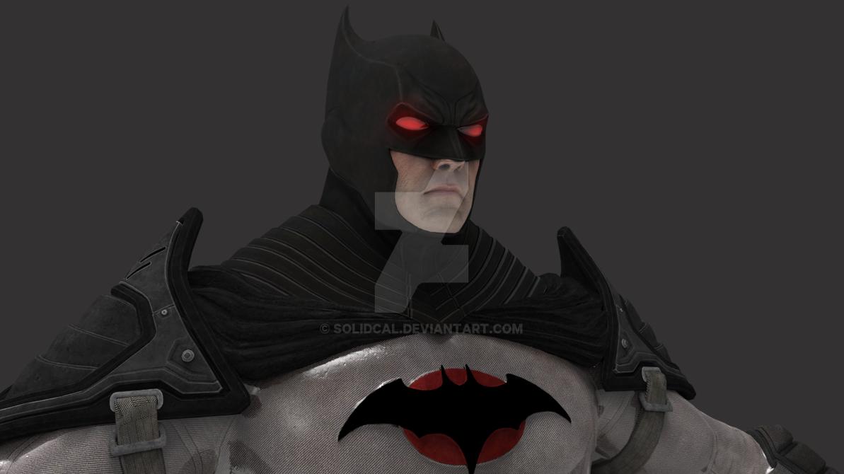 thomas wayne aka flashpoint paradox batman render by