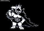 (Deltarune) Chaos King (Lancer's Dad) by Sharfav3in