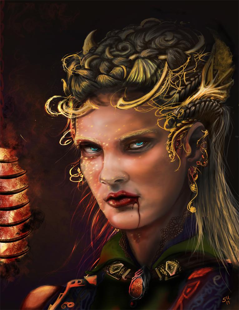 Lagertha of dark blood magic by Ajala