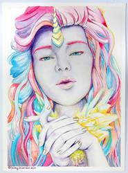 Unicorn Girl by Ajala