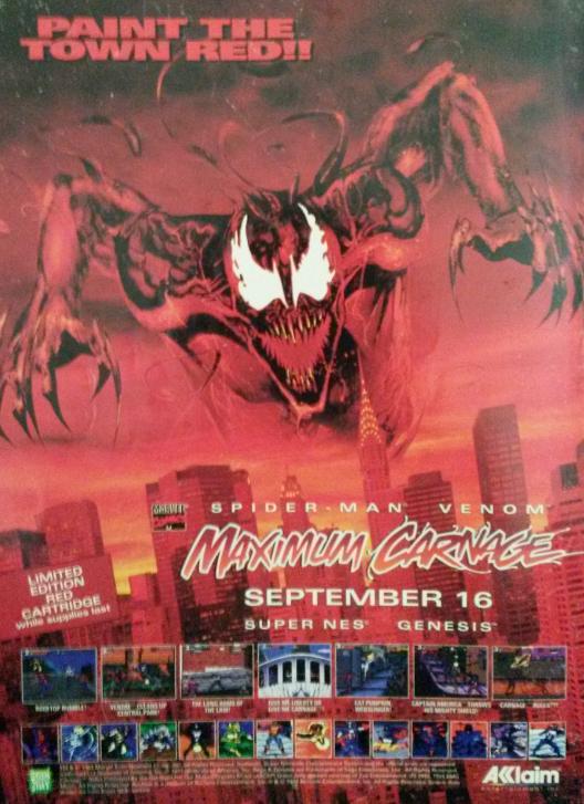 Maximum Carnage Magazine Ad By Dashing In The Dark On Deviantart
