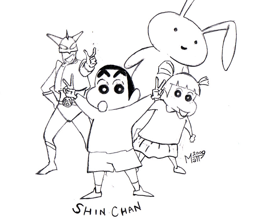 Shin chan sketch by mattwelch on deviantart for Shin chan coloring pages