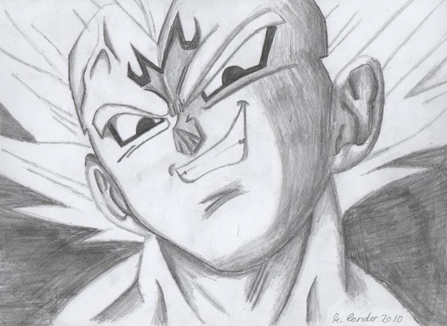 My drawing of Majin Vegeta by TheRoganJosh on DeviantArt