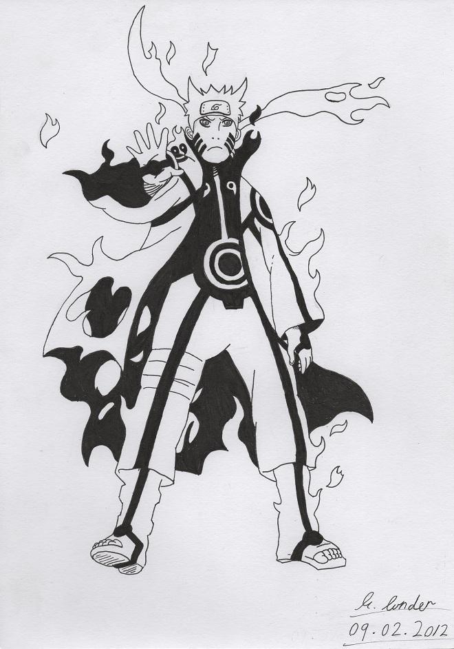 Naruto bijuu mode by TheRoganJosh on DeviantArt