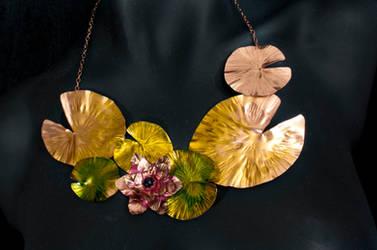 Lilypad Necklace by ArtofKeryeLeigh