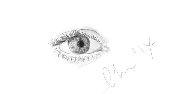 D's right eye ~ by Sookybabi
