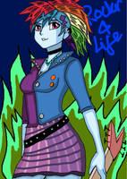 Rainbowdash The Rocker by takrontoxicity