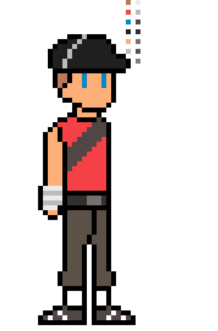 Team Fortress 2 Scout Sprite By Comicalcooper On Deviantart