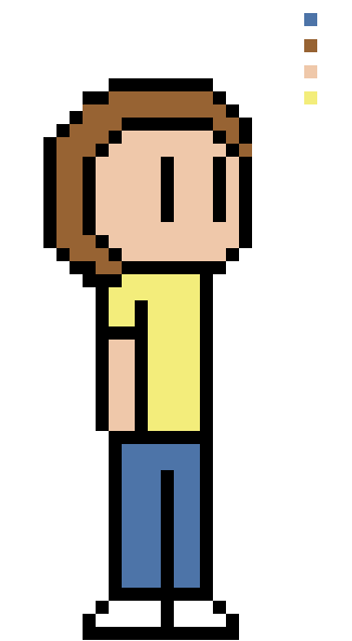 Rick and Morty-Morty Sprite by ComicalCooper