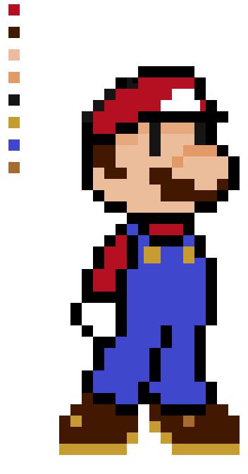 Retro Bros-Mario by ComicalCooper