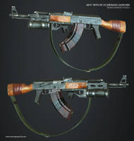 AK47 With GP-25 Grenade Launcher