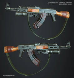 AK47 With GP-25 Grenade Launcher by NamNguyen3D