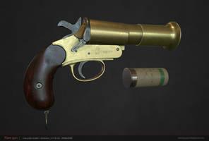 Webley - Scott Mark III Flare Pistol by NamNguyen3D
