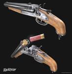 Double barrel shotgun by NamNguyen3D