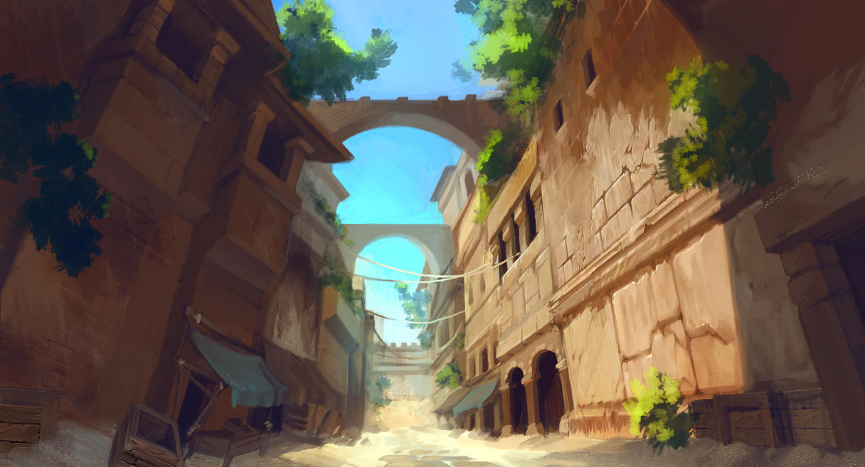 Deserted Street Concept by catboyking