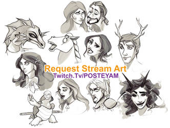 Request stream free art compilation by posteyam