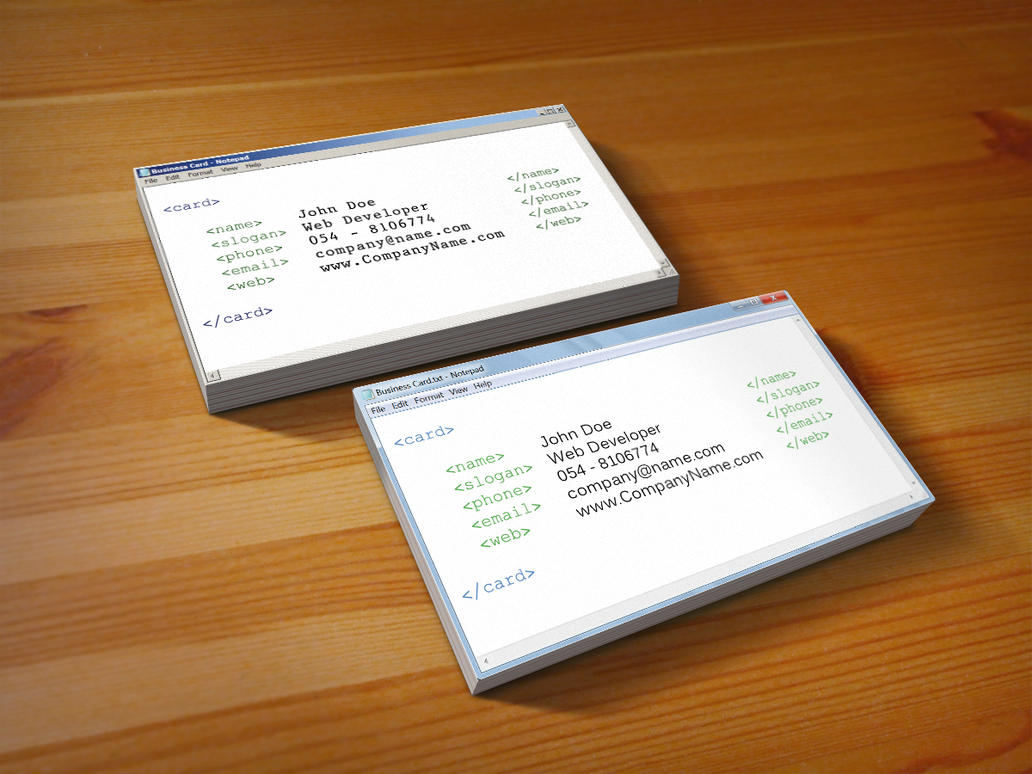 Notepad Business Cards by MosheSeldin on DeviantArt