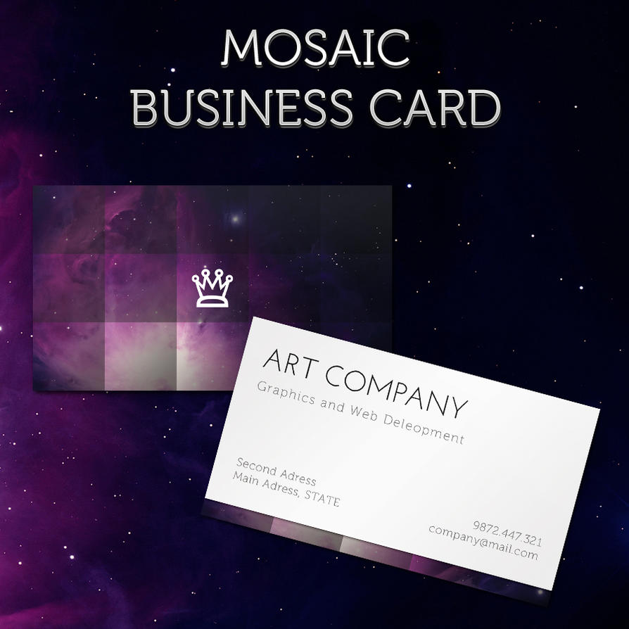Mosaic Business Card by MosheSeldin