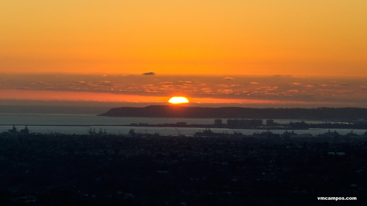 Sunset Over Point Loma 5698 by vmcampos