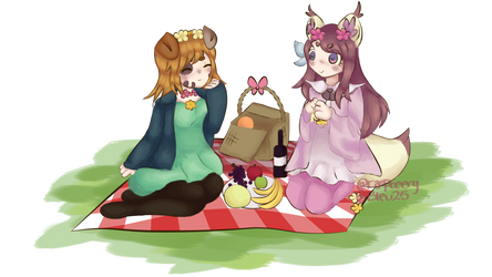 Playful Picnic! (Collab with: Raspbeery) by Bleu25