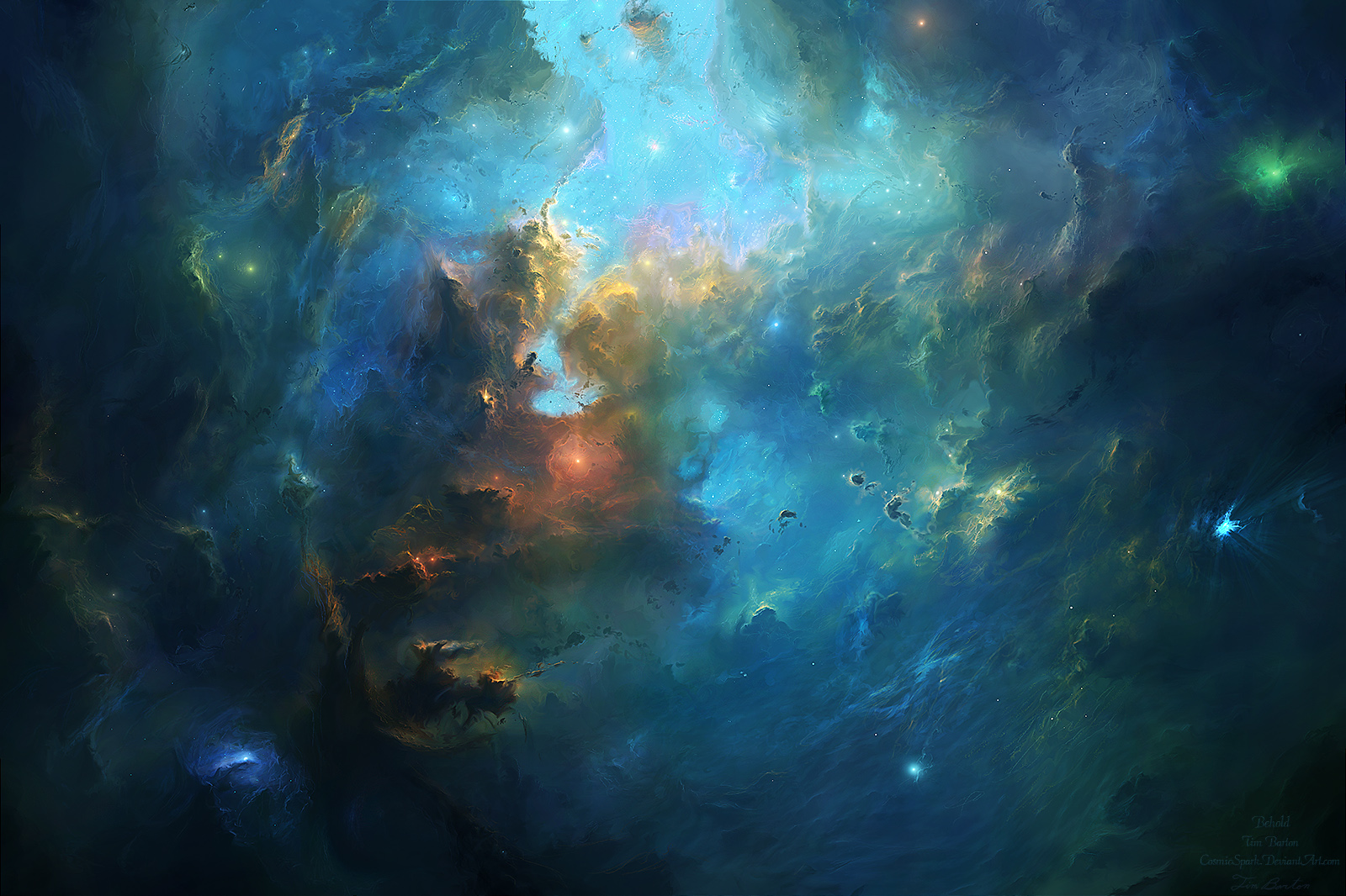 Behold by cosmicspark on deviantart for Space art tutorial