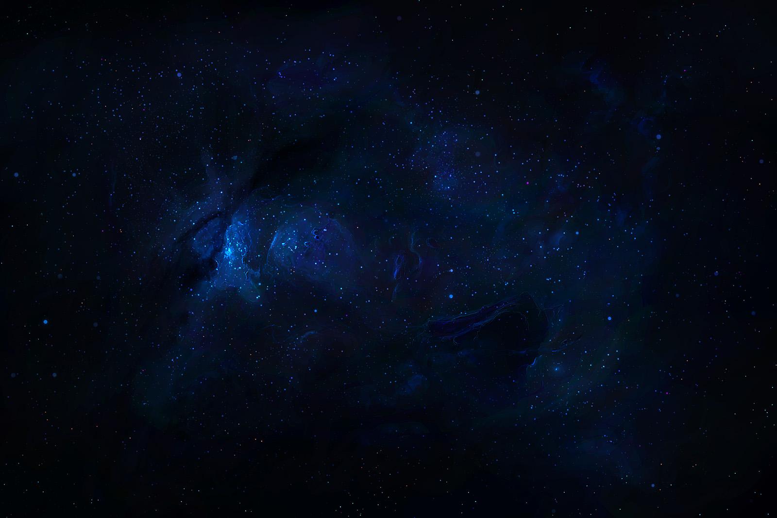 Blue Nebula Speedpaint - Stock