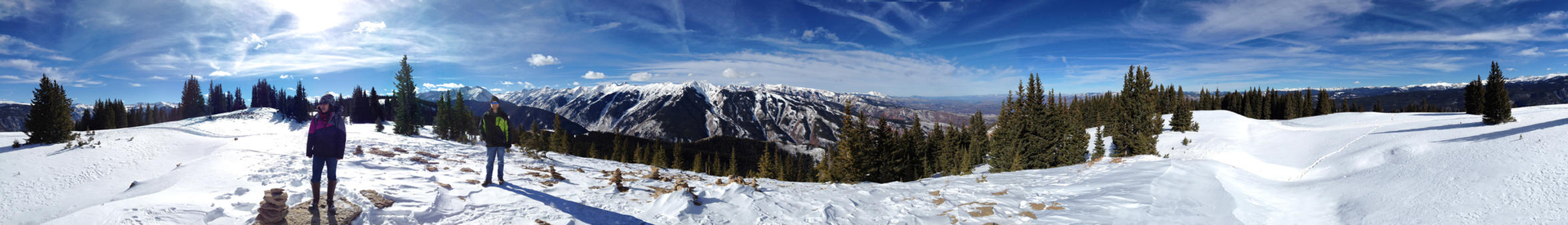 Aspen Mountain Panoramic by cosmicspark