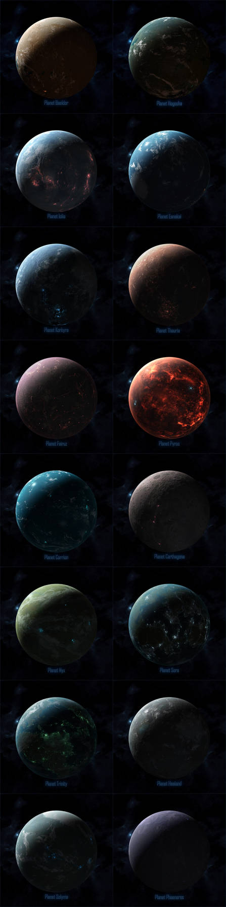 Planets of Starpoint Gemini Warlords by cosmicspark
