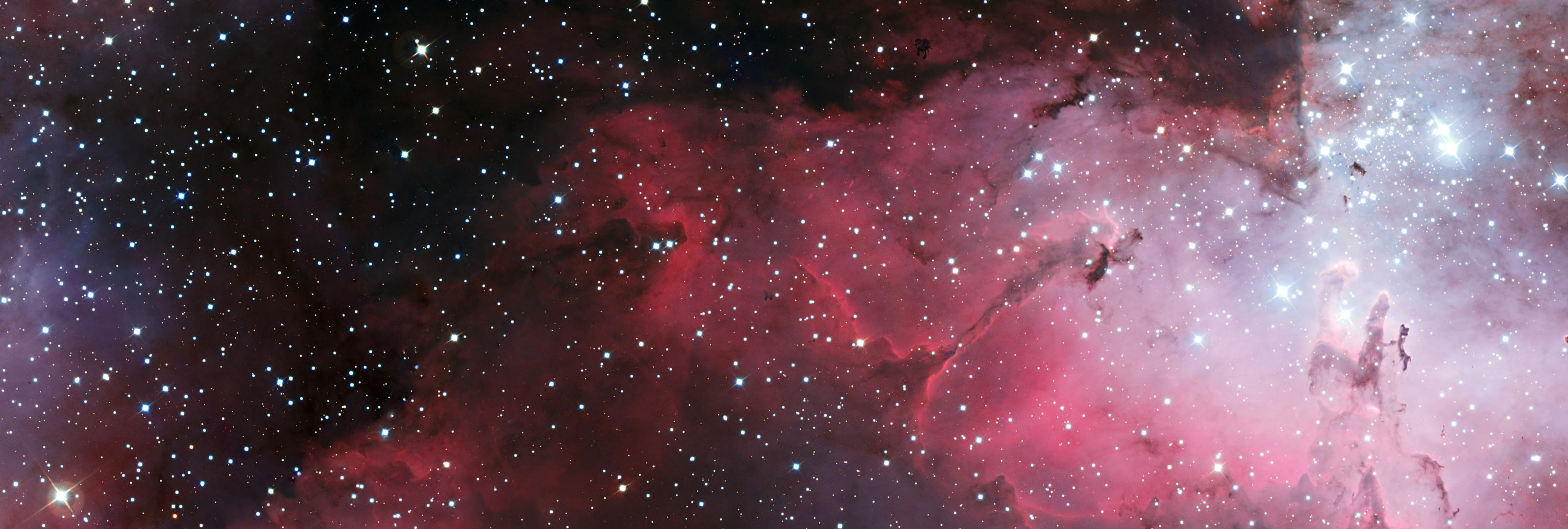 Adamantpieeater Eagle Nebula Wallpaper 3200 X 1080 By