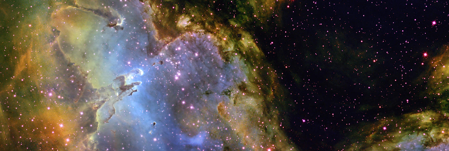 Eagle nebula wallpaper 3200 x 1080 by adamantpieeater on - Pillars of creation wallpaper ...