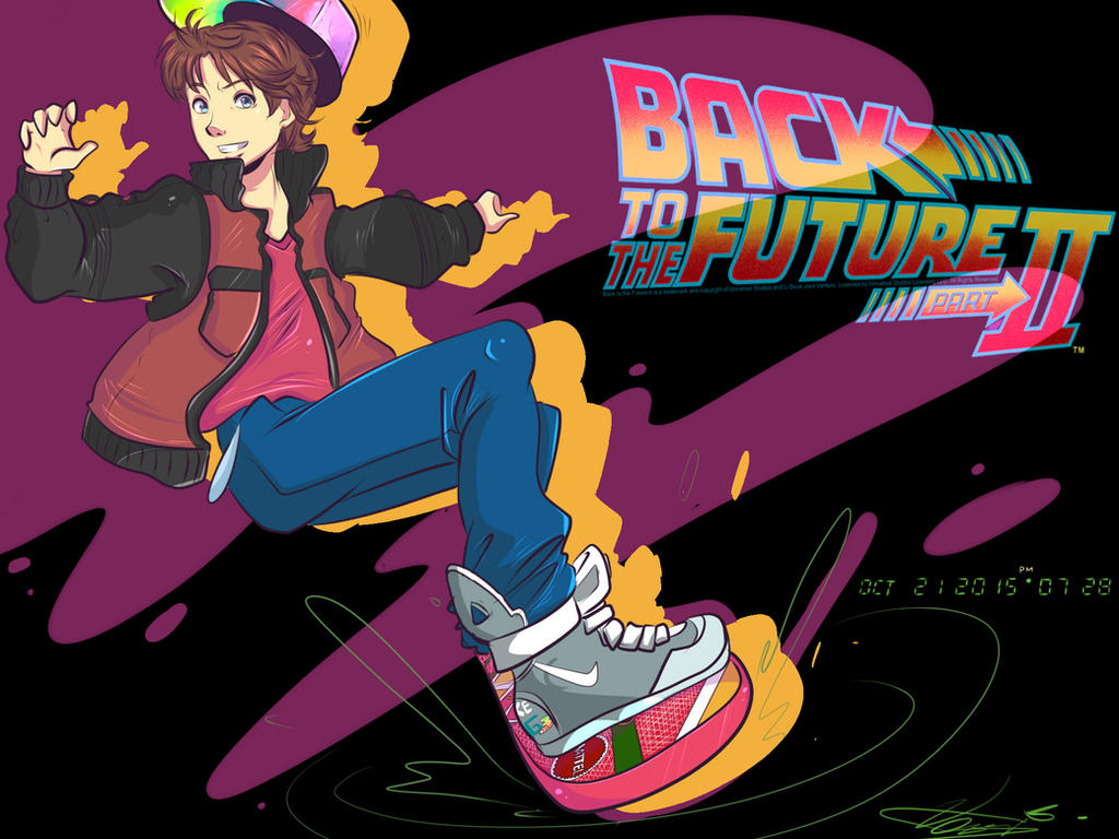 Back to the future by invader celes on deviantart